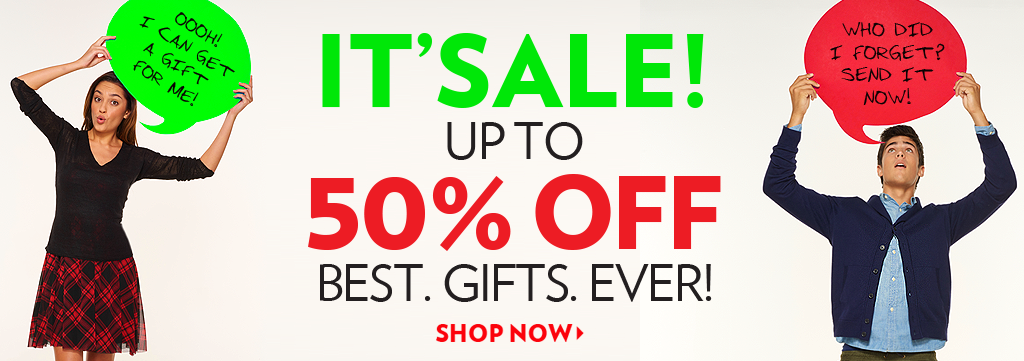 Shop 50% Off Holiday Gift Sale