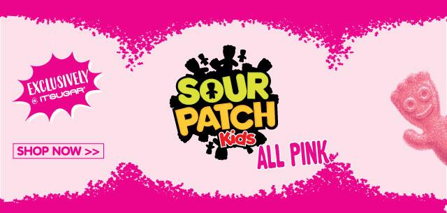 New and Exclusive All Pink Sour Patch Kids Box at IT'SUGAR